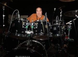 Marty B on drums